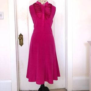 Paperwhite Collection Hot Pink Silk Dress -Size 16